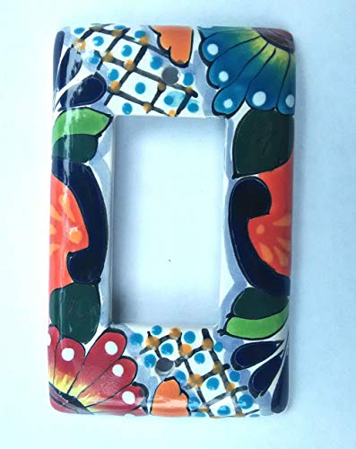 - Mexican Talavera Rocker GCFI Lightswitch Cover Plates. Designs and Colors Vary!