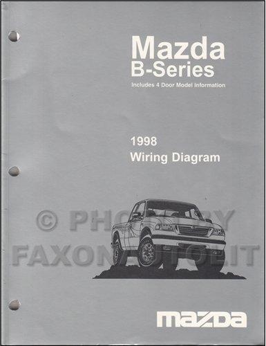(1998 Mazda B4000 B3000 B2300 Pickup Truck Wiring Diagram Manual Original 2 and 4 door)