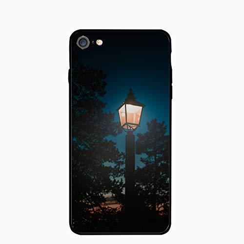 iPhone 6/6s Case,Personalized Lantern Night Pillar Light Floral Print PC Cellphone - Pumpkin Pillar