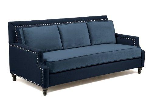 Loni M. Designs Madrid Sofa, Navy Blue