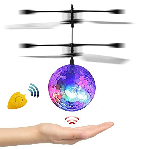 ECVILLA [Speed Running] RC Toy, Mini Infrared Induction Flying Ball, RC Drone Helicopter Ball with LED Flashing Lighting for Kids, Teenagers