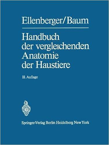 Amazon.com: Handbuch der vergleichenden Anatomie der Haustiere ...