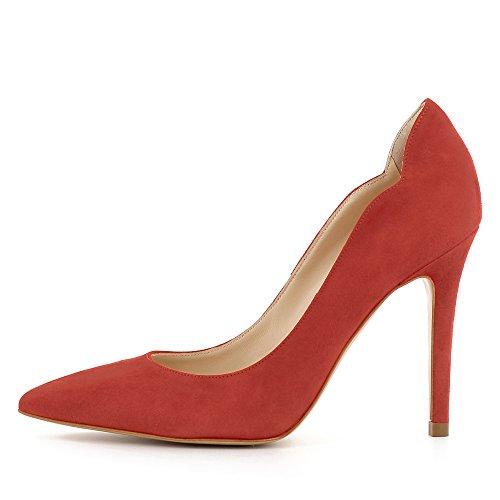 Daim Alina Escarpins Femme Rouge Evita Shoes qFIwSx8f44