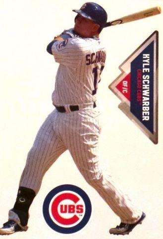 Kyle Schwarber Mini FATHEAD Chicago Cubs Logo Bonus Graphic Official MLB Vinyl Wall Graphics 7
