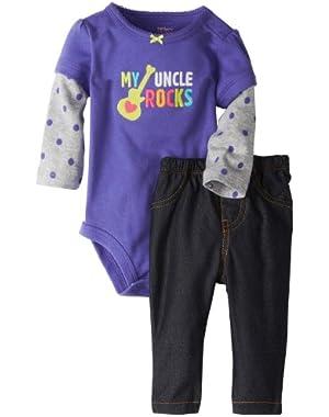 Carter's Baby Girl's Bodysuit & Pant Set - Uncle Rocks