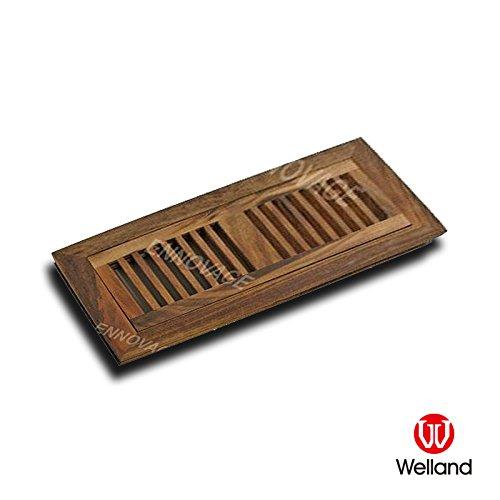 WELLAND Tiger Wood Hardwood Vent Floor Register Flush Mount Unfinished, 2 Inch X 12 - Tiger Flooring Hardwood Wood