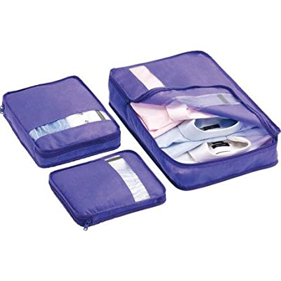 Bag Packers Tidy Case Luggage Packing Cubes Set of 3 - (purple) - luggage