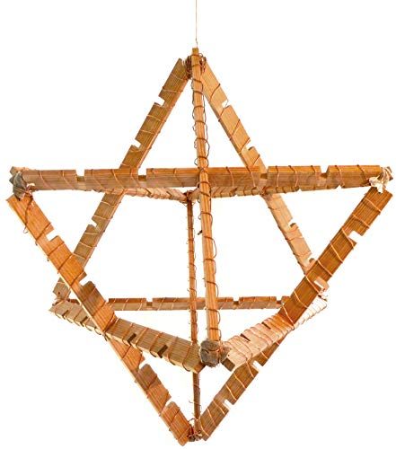 Therapeutic Merkabah - Relax Mind & Heal Body by Induction - Get a Complete Kit - Built it Easilly - 59 cm Pine Wood, Copper Wire, and Parsley Seeds - Includs Book