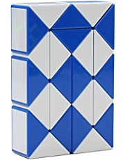 MZStech Magia Serpiente torcedura juguete Puzzle Collection cuñas 24 Magia Regla (rojo)