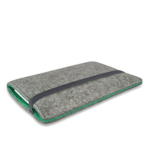 Stilbag Filztasche 'FINN' für Apple iPhone 5 - Farbe: hellgrau/mint