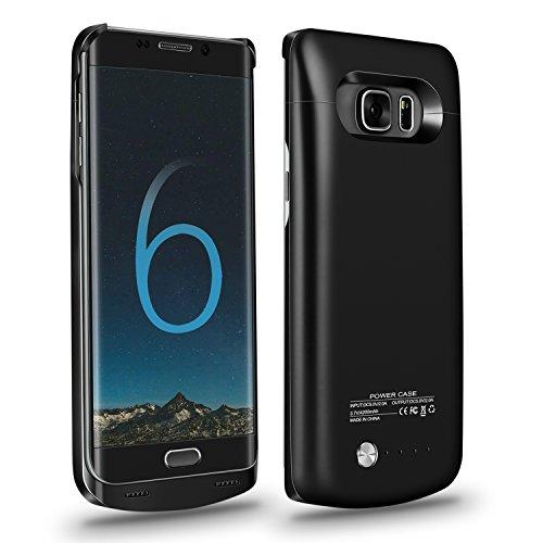Galaxy S6 Edge Plus Battery Case,Accerzone External Power Bank 4200mAh Portable Slim Backup Charging Case for Samsung Galaxy S6 Edge Plus(Not for S6 Edge) (Black)
