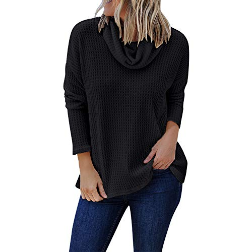 Byyong Womens Fashion Long Sleeve Solid Shirt Turtleneck Plus Size Blouse Top Pullover, Hot Sales! -
