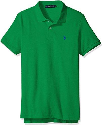 (U.S. Polo Assn. Men's Classic Polo Shirt, Sprint Green, L)