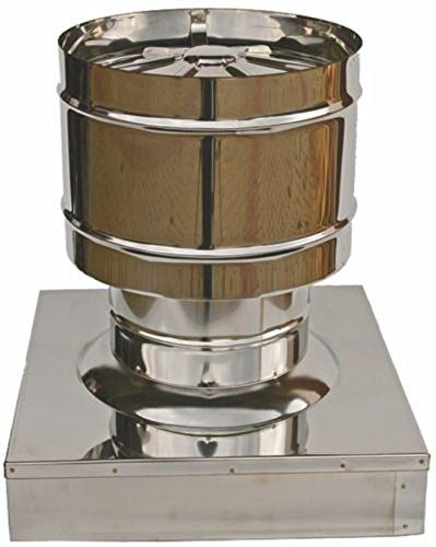 MISTERMOBY SOMBRERETE ANTIRREVOCO CERTIFICADO ACERO INOX TUBOS DE CHIMENEA BASE 52X52 CM
