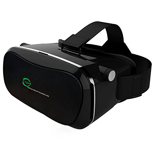"VR Headset,Urgod 3D Glasses Virtual Reality Box Cardboard Goggles for 3.5""-6.0"" iPhone Samsung Galaxy Series LG HTC Smartphones"