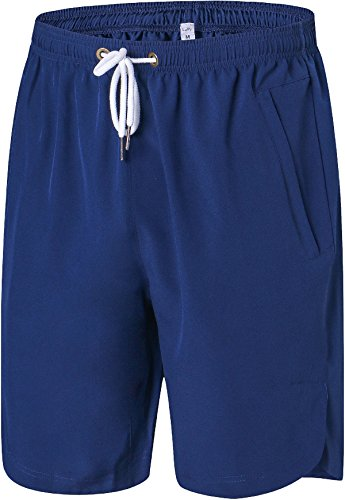 Mens Athletic Gym Shorts Elastic Waist - Quick Dry Stretchable for Running, Training, Workout Swim Trunks for Watersports (XXXL, - Running Swim In Shorts