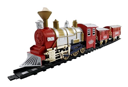[Classic Train Set for Kids with Smoke, Realistic Sounds, by Liberty Imports New] (Liberty Bell Costumes)