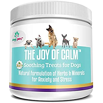 Calming Treats for Dogs - Dog Anxiety Relief with Magnesium, Thiamine,  Chamomile, Passionflower and Hemp Seed - Natural Dog Calming Aid 75x Bacon