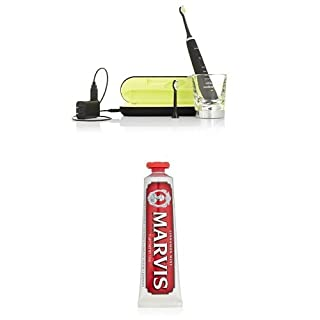 Philips Sonicare DiamondClean Sonic Electric Toothbrush, Black and Marvis Cinnamon Mint Toothpaste, 3.8 Oz. (B01DJNUYVO) | Amazon price tracker / tracking, Amazon price history charts, Amazon price watches, Amazon price drop alerts