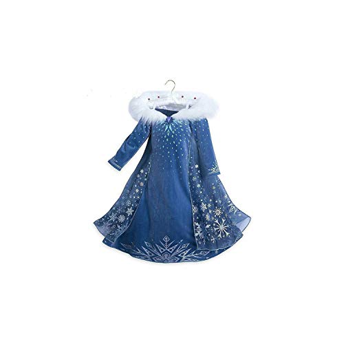 (Girl Costume Party Cosplay Clothing Anna Snow Queen Print Birthday Princess Dress Kids,Only Dress1,6)