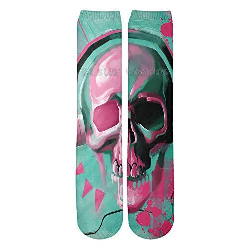 (Socks Unisex 3D Printed Socks Novelty socks Athletic Sports Length Socks YX GIRL (Skull-1))