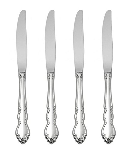Oneida Dover Fine Flatware Set, 18/10 Stainless, Set of 4 Dinner Knives