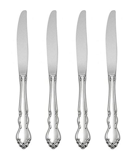 Oneida Dover Fine Flatware Set, 18/10 Stainless, Set of 4 Dinner Knives ()