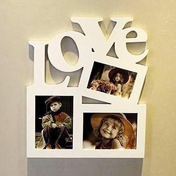 Homeofying Cornice In Legno Per Foto Fai Da Te Con Lettera D Amore E Scritta In Inglese Love 1