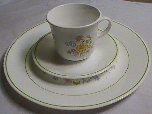 Corning Corelle 1977 Meadow 12-pc Dinnerware Set--4 Ea Dinne