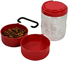 f8bad715b0bd The JDP Co. Travel Dog Food Container with Detachable Travel Dog Bowls