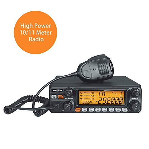 AnyTone AT-5555N 10 Meter Radio can convert into 11 meter CB Radio 40 Channel for truck, with SSB /FM/ AM /PA mode,High Power Output 12W AM,30W FM,30W