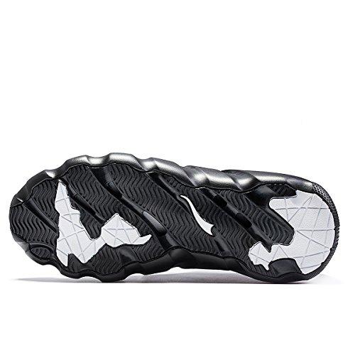 ONEMIX Herren Damen Sneakers leichte atmungsaktive Outdoor Wanderschuhe sockenähnliche Turnschuhe Schwarz
