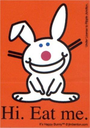 Happy bunny hi eat me sticker