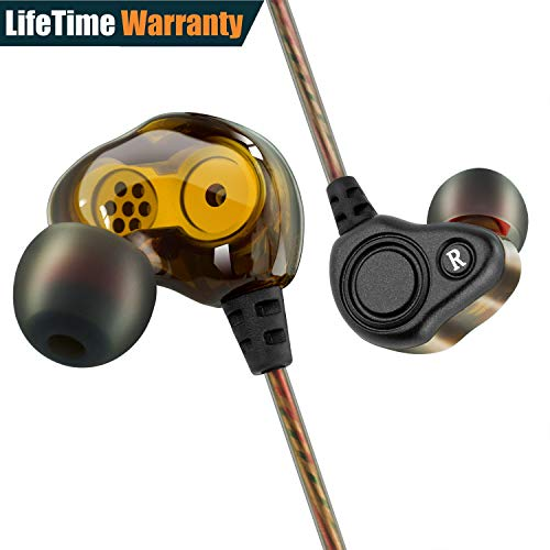 BYGZB In-ear Headphones Earbuds High Resolution Heavy Bass with Mic for iPhone iPad iPod Smart Android Cell Phones Mp3 Mp4 Earphones