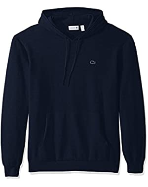Men's Milano Stitch Hoody Cotton Sweater with Kangaroo Pockets
