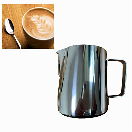 Blue Pearl Stainless Steel Milk Frothing Pitcher-Measurements Inside - Perfect for Espresso Machines, Milk Frother (12 Ounces)