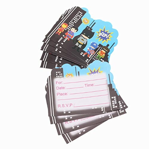 10pcs./lot Cartoon Theme Paper Invitation Card Birthday Party Decorations Kids Baby Shower Supplies Party Favors -