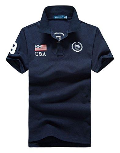 (シンアンドケン) sin&ken ポロシャツ メンズ シャツ 半袖 ポロ ゴルフウェア トップス 2XL USA ネイビー [並行輸入品]