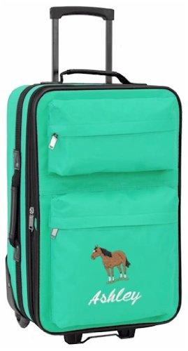Personalised Kids luggage with wheels (teal): Amazon.co.uk: Luggage