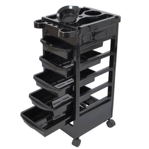 High Quality Hair Salon Rolling Trolley Storage Cart w/5-Drawer WOrkstations AV Prime Inc. AV-12TRL001-5D1T-06