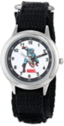 Marvel Kids' W000140 Captain America Stainless Steel Time Teacher Watch