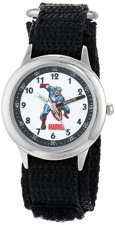 Marvel Kids' W000140 Captain America Stainless Steel Time Teacher Watch