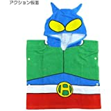 Tees Factory Shin-Chan And Action Kamen Hooded Towel Poncho For Kids