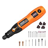 Tacklife PCG01B 3.7V Li-on Cordless Rotary tool -- Three-Speed with 31-Piece Rotary accessory Kit, USB charging Cable, Collet Size 3/32-inch(2.3mm) - Perfect for Small Jobs