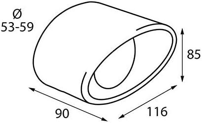 ER086 - Acero inoxidable de tubo de escape del tubo de escape de ...