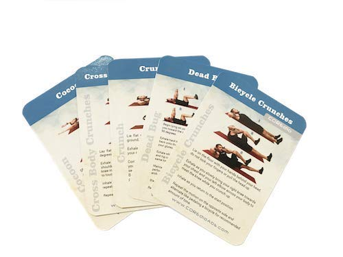 COREdio Deck - at Home Ab Training Bodyweight Workout - Ab Exercises and Bodyweight Exercises to Burn Fat and Get a 6 Pack