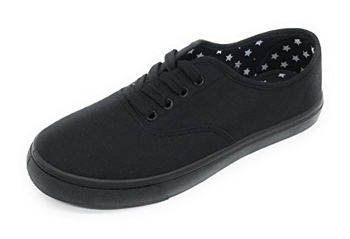 Lace Casual Canvas Black Women Berry EASY21 Blue All Up Shoe Sneakers Comfort Fashion q8BZI44wn