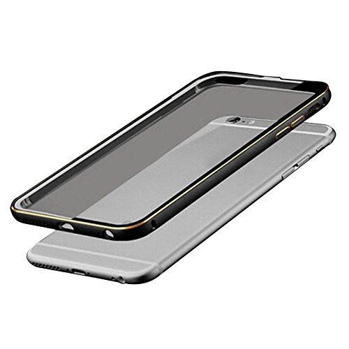 "Metall Abdeckung - TOOGOO(R)Ultraduenne Aluminium Metall Huelle fuer iPhone 6Plus 5.5"" Schwarz + Transparent"