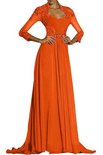 mujer trapecio naranja Vestido Topkleider para wC6gq8XWx