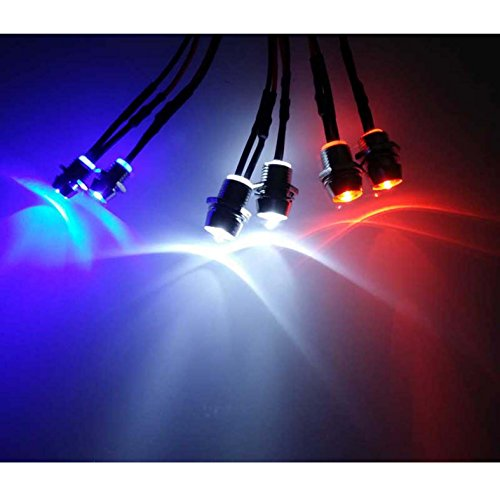 (powerday 6Leds LED Light Set Headlight Taillight for 1/10 RC Car Truck Crawler HSP)